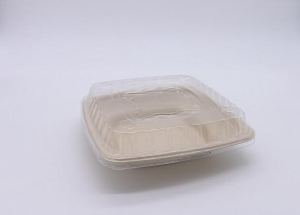 本色餐盒,方形碗+PET盖