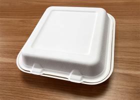 泰国工厂大量现货供应:纸浆模塑餐具; 9寸锁盒 型号1