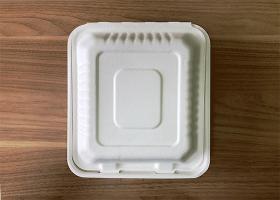 泰国工厂大量现货供应:纸浆模塑餐具; 8寸锁盒 型号1