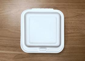 泰国工厂大量现货供应:纸浆模塑餐具; 6英寸盒子